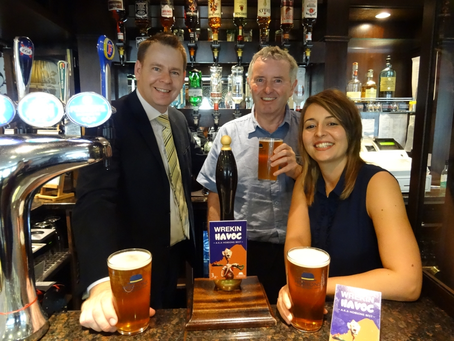 L-R, myself, David Weston, author of the book, and Toni Sian William, illustrator of the book and designer of the pump clip.