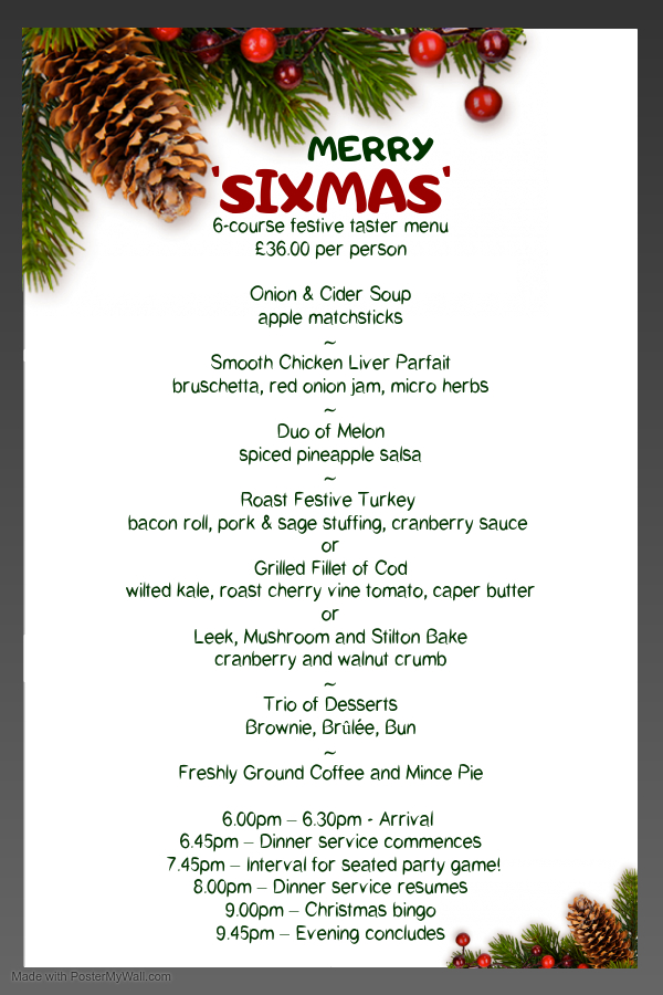 6-Course Sixmas Dinner Poster
