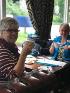 Sue Davies and Margaret Williams