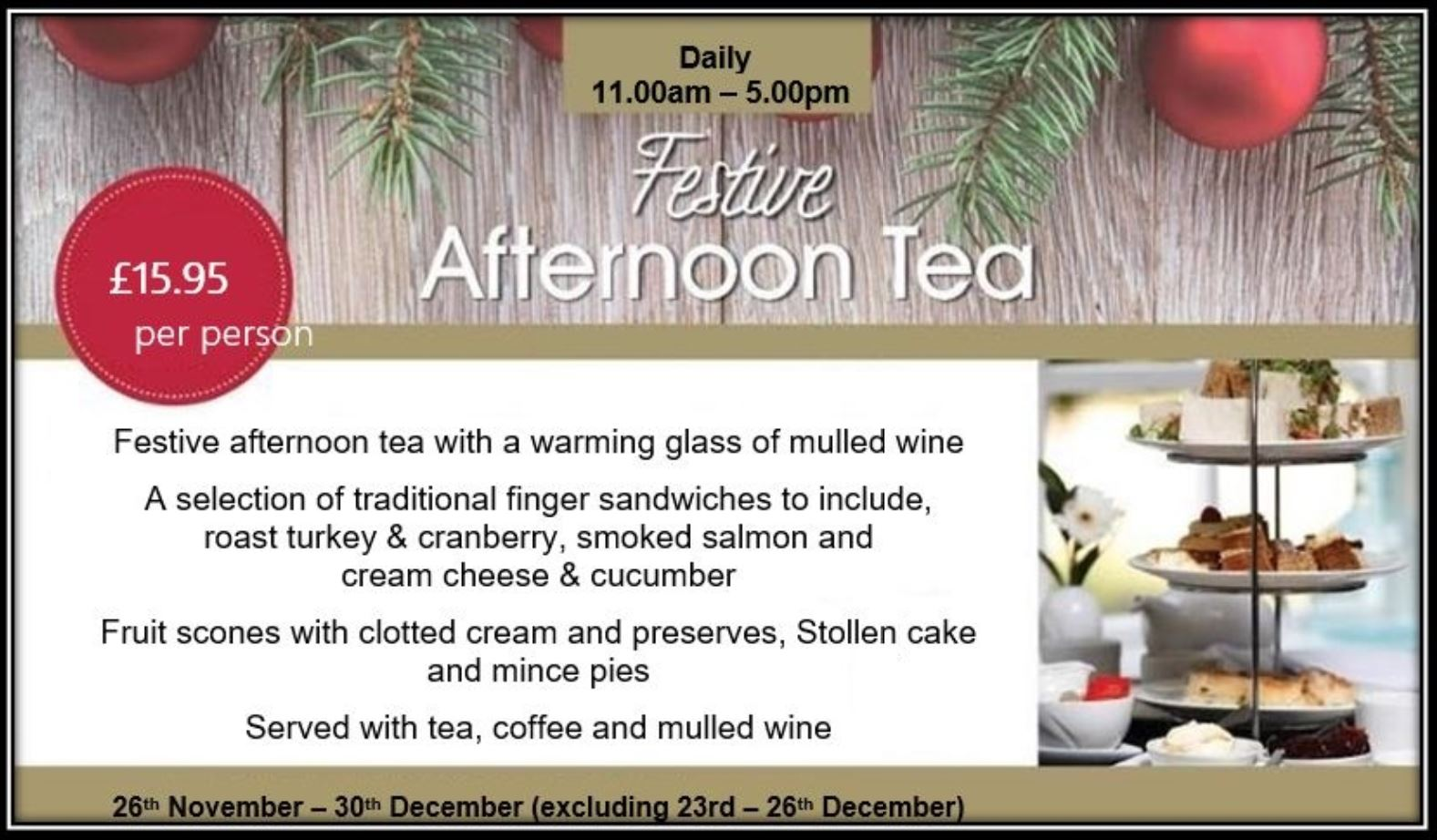 Capture Festive Afternoon Tea
